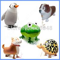10PCS Mix Designs Cartoon Foil Balloons Animal Walking Pet Balloons Toy Party Decoration