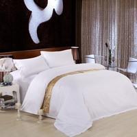 Pure color Hotel home textile 100%cotton White comforter bedding set queen king size 4pcs duvet cover bed sheet bedclothes set