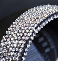 DIY sparkling car diamond stickers, free shipping auto beauty diamond helloday stiker , hot sale colorful crystal car stickers