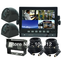 "7"" DIGITAL QUAD MONITOR TWIN REAR/SIDE VIEW CAMERA SYSTEM FOR AGRICULTURE FARM TACTOR"