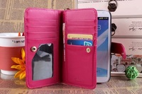 New arrival PU Leather case cover card insert wallet bag case for Samsung Galaxy Note 2 N7100