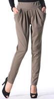 plus size pants womens' fashion pencil trousers ruffle hallen style pants pockets  casual elegant slim high quality JP-046