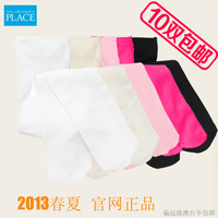 Place 13 spring and summer female child velvet heel plus crotch pantyhose dance socks