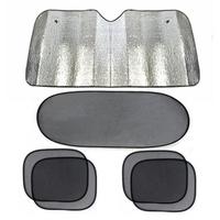 Free shipping Car window sunshade,black mesh Sunshade Cover for rear and Side Window ,6pcs/set auto Aluminum Foil Sun Block