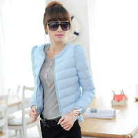 2013 autumn and winter slim thickening thermal short design thin wadded jacket cotton-padded jacket cotton-padded jacket plus