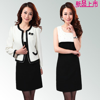 2013 autumn twinset blazer ol slim tank dress long-sleeve dress