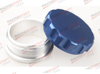 "1.5""38.1mm Aluminium Alloy Weld On Filler Neck And Cap Oil, Fuel, Water Tank Blue"