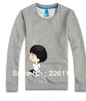 Free Shipping 2013 New korean couples dress  T-shirt men & women lovers  long-sleeve T-shirt