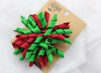 Christmas Ribbon kid's hair barrette , free shipping
