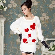 popular white wool dress