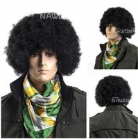 High-quality synthetic material fibers made party and cospaly men hair wig ball fan wigs