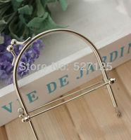 10pieces/lot ,10cm high quality handbag frame antique brass,round hasp bag/purse handle,  Metal Purse Frame