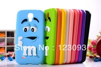 2013 New Arrival Cute 3D Cartoon Rainbow Beans Soft Silicone Rubber Back Cover Case for Samsung Galaxy S4 I9500 Free Shipping