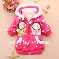 free shipping Cotton new winter children's clothing cardigan two lovely female baby bee David cotton wholesale clothing