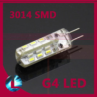 Free Shipping 10pcs/lot G4 3W 24 LED 3014 SMD Bulb Car Light  DC 12V Energy Saving Lighting