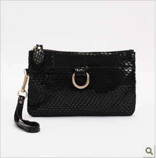 2014 new arrival Fashion designer Snake skin Genuine cow Leather Women's Purse/Clutch Evening Bag/handbag/cosmetic bag promotion