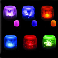 New Romantic Projection Candle Light Electronic Voice blow Nightlight Gift T0399