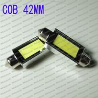 FREE SHIPPING Car Auto Festoon 3W COB led Dome Canbin light Interior lamp White 42mm 12V,Wholesale Car led COB chip panel