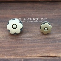 bronze color flower type magnetic button