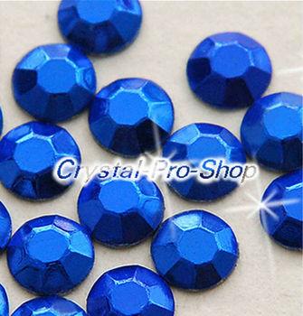 1440 pieces Blue 3mm 10ss ss10 Faceted Hotfix Rhinestuds Iron On Round Beads new Aluminum Metal Design Art DIY (u3m-Blue-10 gr)