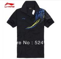 Free shipping! 2013 Li Ning Germany table tennis shirts game T-shirts / Table Tennis clothes men / polo shirts