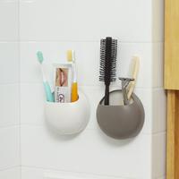 Free shipping  Bathroom lovers wash rack shelf suction cup toothbrush holder toothpaste holder dental razor storage rack
