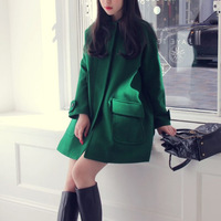 Spendingspree2013 women's outerwear cloak woolen overcoat cashmere overcoat