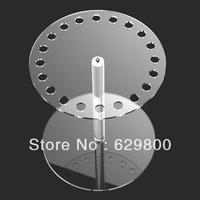 clear round acrylic tray for jewelry, round tray shape acrylic jewelry display shelf
