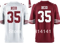 Wholesale-Free Shipping Cheap 2013 Elite American Football Jersey Eric Reid #35 Red White