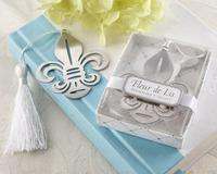 Fleur de Lis Metal Bookmark +wedding bridal shower party favors guest gift+Free shipping 30PCS/LOT