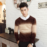 free shipping 2013 autumn pullover sweater male thick Men basic shirt