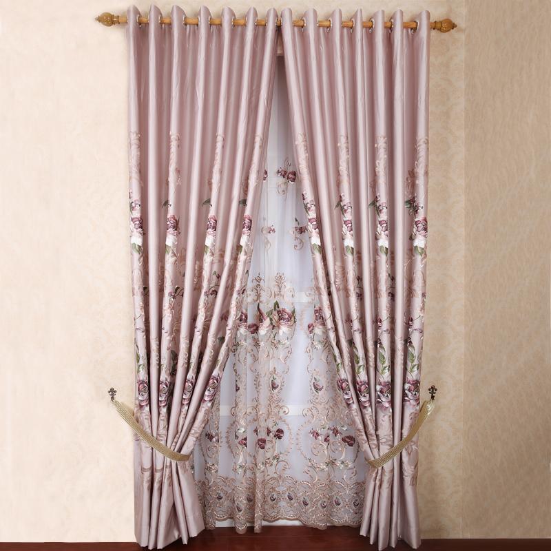 Medidores de estilo chinês moderno nova qualidade clássica de luxo seleção da janela cortina faux seda bordada tecido da cortina(China (Mainland))
