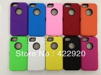 For iPhone 5C Robot 3 in 1 Hard Hybrid PC + Silicon case cover shockproof Back shell Protector