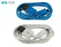 Free shipping 20pcs Colorful Micro USB Cable 2.0 Data sync Charger cable For Samsung galaxy/htc