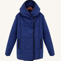 2013 new arrival women's jackets winter warm solid color warm lady overcoat white free shipping D075