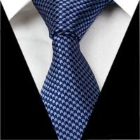 Navy Blue Floral 3.15'' 100%Silk Classic Jacquard Woven Man's Tie Necktie JS19