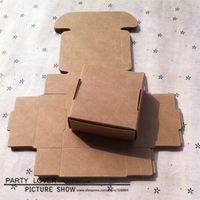 free shipping+retail gift packaging box kraft paper box jewelry boxes 5.5X5.5x2.5CM