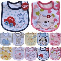 cotton waterproof baby bibs embroidered animal and cartoon-baby feeding bibs-burp cloths-babadores para bebes