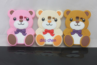 3D cute cartoon Teddy Bear soft silicone Case for Samsung Galaxy Ace Duos S6802 ,Free Shipping by china post