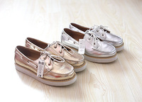 Gold and silver shiny lacing foam platform bottom single shoes 36 - 41