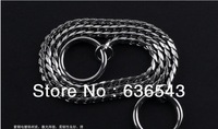 Free Shipping 100% Stainless Steel Pet Training Chain Dog/Snake Leashes/Collars