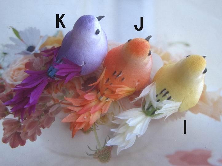 "24 Pcs X 3"" Artificial Foam Birds Ornament Decorative Bird Craft Birds New Ornament DIY (Free Shipping)(China (Mainland))"
