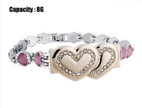 Bracelet Shaped 8GB USB Flash Drive (Pink)