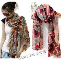2013 Wholesale Scarf New Women's Cotton Blends Totem Retro Bohemia Scarf Shawl Noble Floral Scarves Shawl Fashion Free Shipping