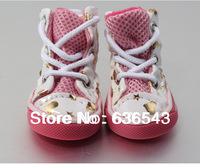 Free Shipping  New Arrival Grid Raining Pet Shoes Dog/Teddy Shoes In Different Colors Pet Products