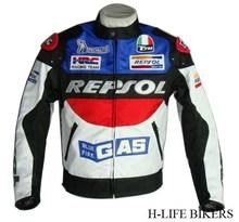 Free shipping DUHAN REPSOL PU leather jacket motorcycle motorcycle racing jacket PU leather motorcycle jacket