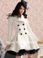 free shipping New double-breasted cultivate one's morality in the long woolen cloth coat