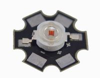 10pcs  High Power 1W Red Star LED Lamp bright 1watt Light with heatsink