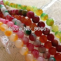 300Pcs Mix 6 Colors Two Tone Sweet Natural Stone Bead Semi-precious Stone Jewelry Beads Accessories