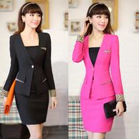 Autumn work wear ol women's suit skirt slim tooling set work wear